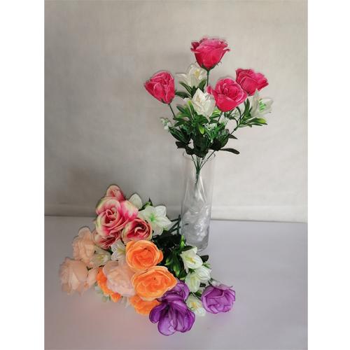 """У3456 Букет роза+лютик """"Прелесть"""" 7в"""
